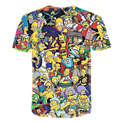 The Simpsons Homer 3d Print T Shirt Bart Simpson House Clothing Homer Simpsons Sweatshirt Costume Men/women Simpson Family Shirt