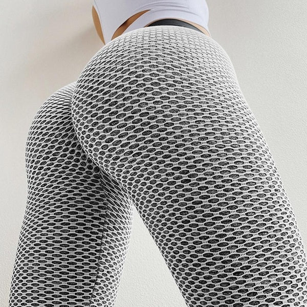Women Leggings Fashion Patchwork Print High Waist Elastic Push Up Ankle Length Polyester Leggings