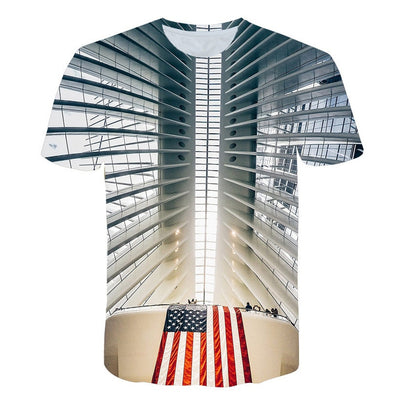 Retro Federal Republic of Germany Flag T-shirt Men/Women Couple Lovers Models Fashion Short sleeve Round neck T-shirt