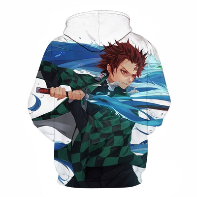 Men Women Anime Demon Slayer: Kimetsu no Yaiba Hoodie Cosplay Costume Sweatshirts Unisex Cartoon Pullover Autumn Casual Clothing