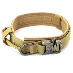 Tactical Dog Collar Adjustable Metal Buckle Dog Collars with Control Handle Training Pet Cat Dog Collar For Small Large Dogs