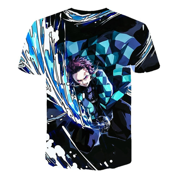 0 Ghost Blade 3D T-Shirt Men funny t shirts Fashion Hip Hop Women Demon Slayer Summer child Print Streetwear T-Shirt tops