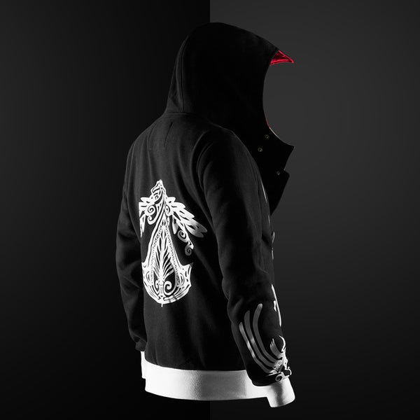 Assassin hoodie unisex zipper jacket Street fashion print hoodie Assassin hoodie for boys Plus size