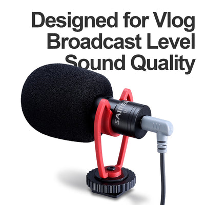 Sairen Q1 On-Camera Video Recording Mic Shotgun Interview Vlog Mic Universal for DSLR Android iPhone Smartphone GoPro