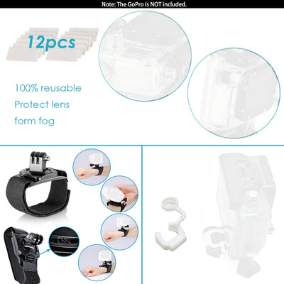 Action Camera Accessories Kit for GoPro Hero 8 Max 7 6 5 4 Black GoPro 2018 Session Fusion DJI AKASO APEMAN Campark SJCAM