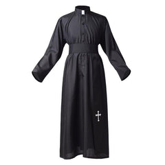 Priest Robe Black Halloween Party Cosplay Costume
