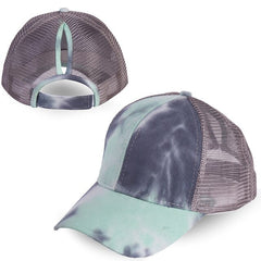 Ponytail Hat Tie-dye Cap Breathable Sports Cap Summer Cap Outdoor Mesh Casquette Femme Casquette De Baseball hot