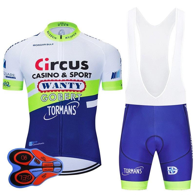 Team Wanty Cycling Pro Jersey 9D Set MTB Belgium Bicycle Clothing Summer Quick Dry Bike Clothes Men's Short Maillot Culotte