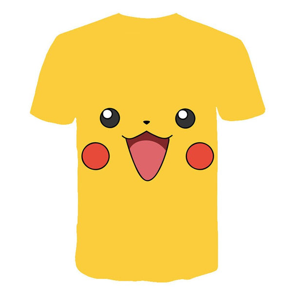Pokemon Detective Pikachu 3D Printed Children T-shirt Summer Short Sleeve T shirt Boys/girl Tops