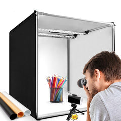 Light box photo 60 cm protable photo studio soft box with 3 color background photography table tent lightbox photo shoot