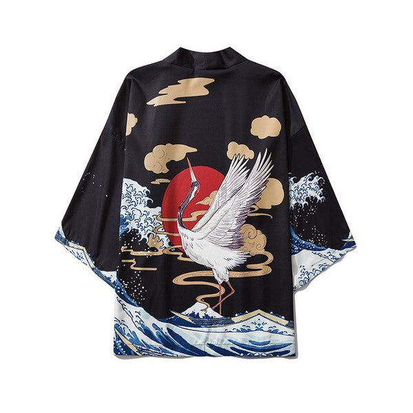 Japanese Style Dragon Hanfu Kimono Streetwear Men Women Cardigan Japanese Robe Female Summer Loose Clothing