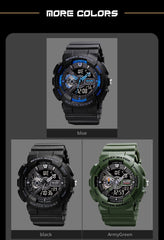 Fashion Digital Watch Men Women Shockproof Waterproof Dual Wristwatches LED Chrono Alarm Clock Mens Watches Cool Hour