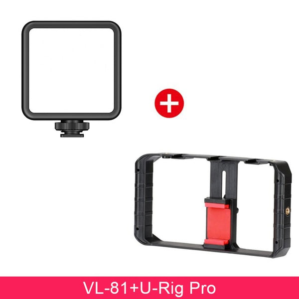 3200-5600K 6.5W LED Video Light Mini Vlog Fill Light for Sony A6400 A6300 Rechargable Smartphone DSLR SLR