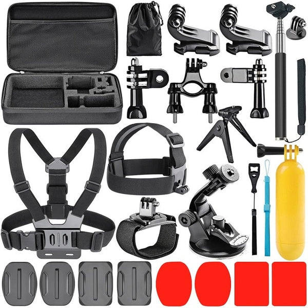 Action Camera Accessory Kit for sjcam SJ4000 5000 6000 DBPOWER AKASO APEMAN WiMiUS Rollei QUMOX Lightdow Campark