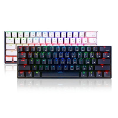 Ergonomic bluetooth Wired Dual Mode 60%RGB Light Mechanical Gaming Keyboard for Laptop Tablet or Mobile Phones