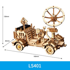 ROKR DIY Solar Energy Wooden Blocks Toys Model Building Kit Space Hunting Assembly Toys For Children Kids