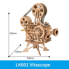 ROKR DIY 3D Wooden Puzzle Mechanical Gear Drive Model Building Kit Toys Gift for Children Adult Teens