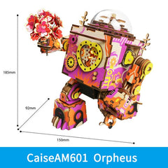 ROKR Steampunk Music Box 3D Wooden Puzzle Assembled Model Building Kit Toys For Children Birthday Gift Drop Shipping