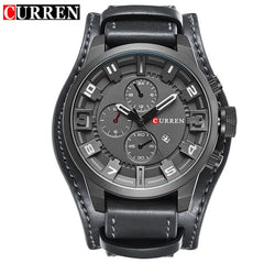Fashion Luxury Watch Men Military Quartz Watch Mens Watches Brand  Leather Sports Business Wristwatch Date  Reloj Hombre