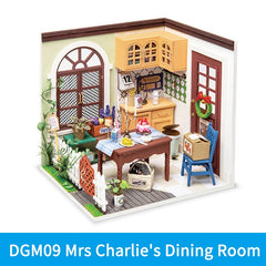 DIY Wooden Miniature Dollhouse Toys For Children Women