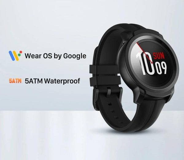 Wear OS by Google Smart Watch with Built-in GPS  iOS& Android compatible 5ATM Waterproof Long Battery life