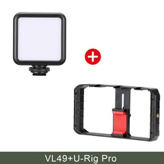 U Rig Pro Smartphone Video Rig With 3 Mounts Video Recording Cell Phone Stabilizer Filmmaking Case Filming Accessories