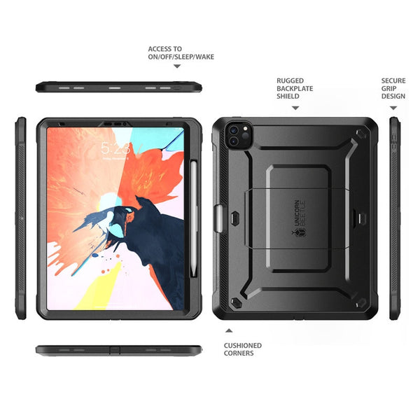 For iPad Pro 12.9 Case (2020) SUPCASE UB Pro Support Apple Pencil Charging with Built-in Screen Protector Full-Body Rugged Cover