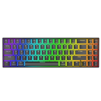Mechanical Gaming Keyboard 71Keys Small bluetooth 3.0 Wireless USB Dual Mode RGB Backlit Blue Brown Red Switch
