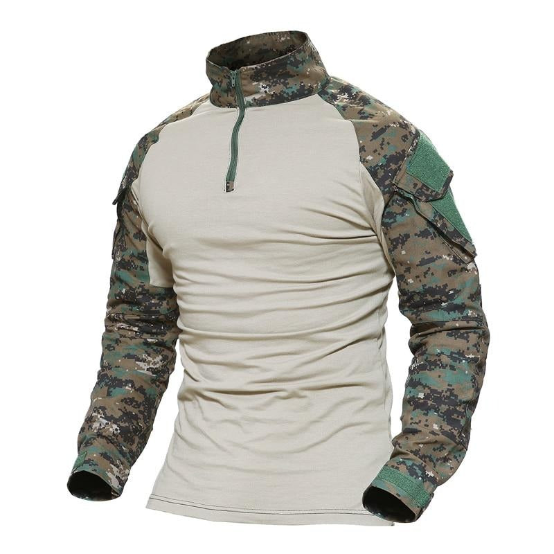 Man Multicam T-shirts Army Camouflage Combat Tactical T Shirts Military Long Sleeve Airsoft Paintball Hunting Tshirts