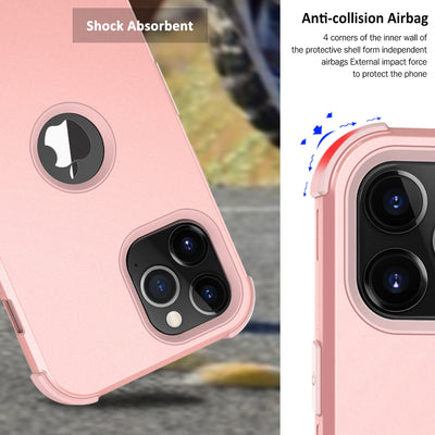 Shockproof 2 in 1 Case for iPhone 12 Shield Hybrid Hard PC + Soft TPU Case for iPhone 12 Pro Max Dual Layer Back Cover