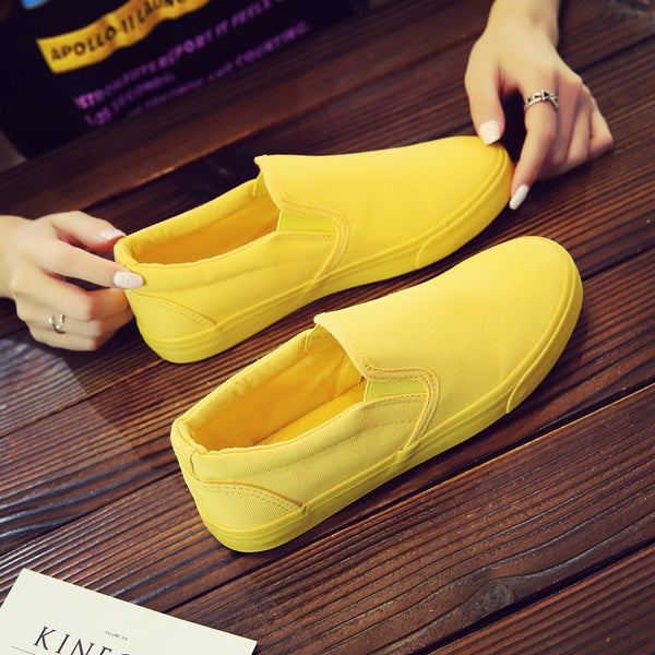 Fashion Canvas Shoes Men Shoes Casual Slip on Shoes Breathable Sneakers Men Loafers Comfortable Flats Shoes Big Size 45 46