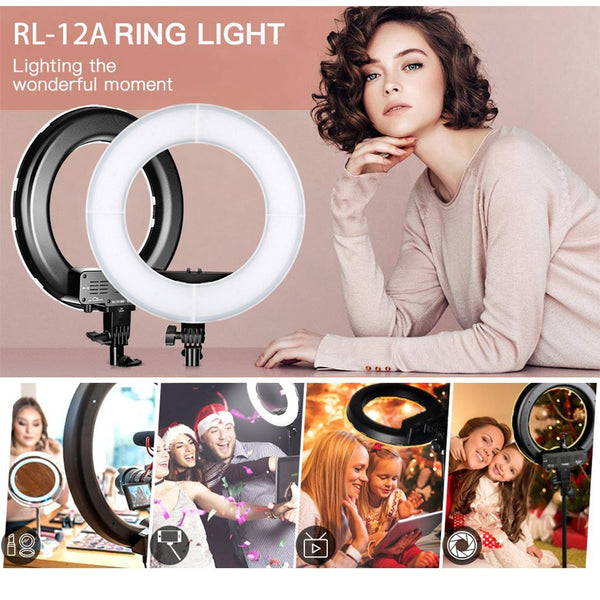 Ring lamp 14 inch with tripod ring light dimmble studio LED ring light photography lighting for Youtube photo ring lamps