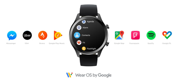 Wear OS by Google Women Bluetooth Smart Watch Android&iOS Compatible IP68 Swim ready Waterproof GPS NFC Available