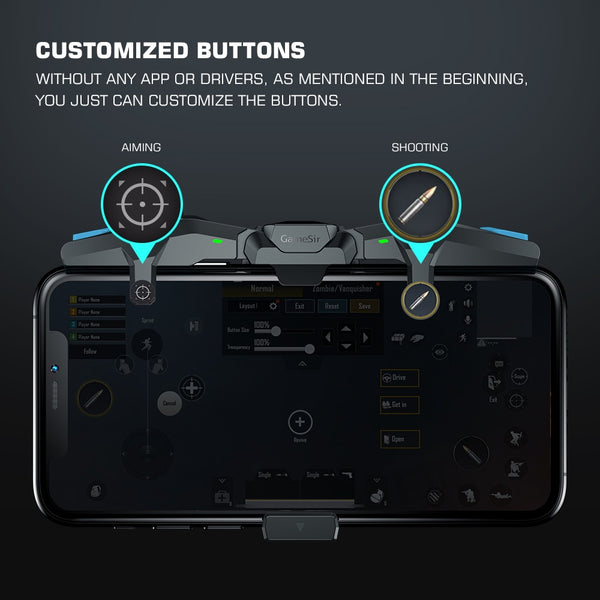 Falcon Mobile Game Controller PUBG Gamepad Joystick Trigger for iPhone iOS Android Call of Duty
