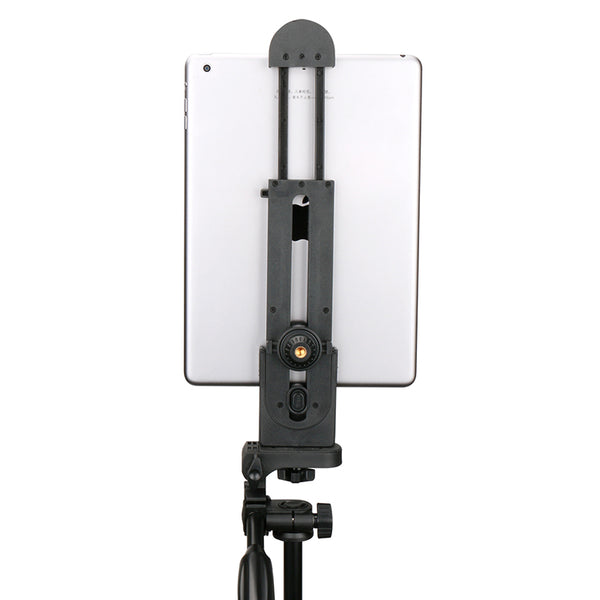 IPad Professional Tablet Tripod Mount 5-12'' Universal Stand Clamp Adjustable Vertical Bracket Holder Adapter 1/4