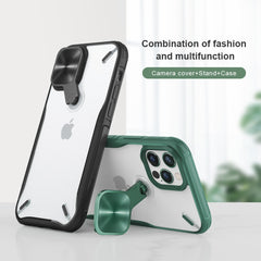 For iPhone 12 Pro Max Case,NILLKIN Camera Protection Cover Stand Case For iPhone 12 Mini PC+TPU Material Phone Case for iPhone12