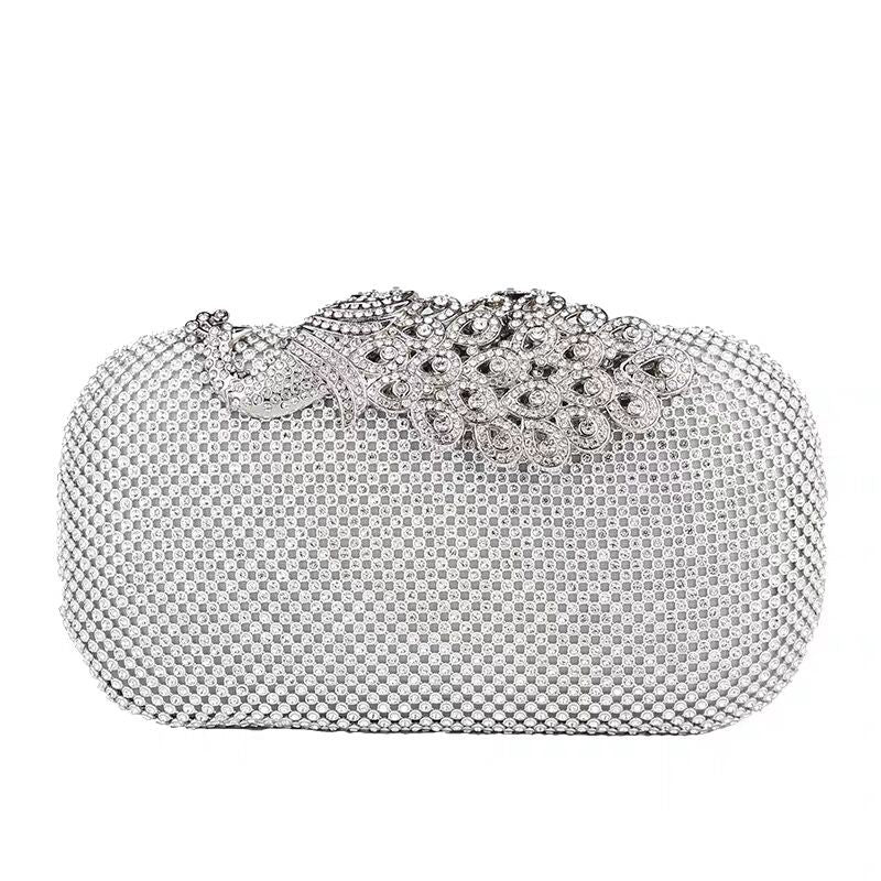 Luxury Peacock Diamonds Elegant Women Evening Bag for Phone Cosmetic Card Key Female Clutches Shoulder Messenger Bag Handbag
