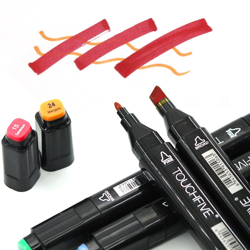 Art Marker Set 12/24/36/48/80/168 Colors Alcohol Base Markers Manga Sketch Drawing Marker Pen For Dual Headed Tip Pen