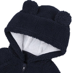 Baby Girl Winter Warm Clothes Ears Hoodie Coats Infant Toddler Jacket Outerwear Clothing Hot Ins