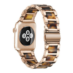Stainless Steel and Color Resin Strap strap for Apple Watch 40 44 38 42mm for iWatch Series 5 4 3 2 1 Bracelet Color