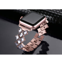 38mm 42mm 40mm 44mm Bling Luxury Women Watch Band for Apple Watch Series 6 SE 5 4 3 Bracelet Apple Watch  Stainless Steel Strap