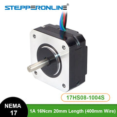 Nema 17 Stepper Motor 17HS08-1004S 20mm 1A 16Ncm(22.6oz.in) 42 Motor Nema17 Stepper 4-lead for DIY 3D Printer CNC XYZ