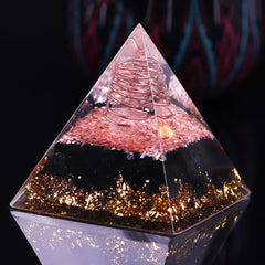 Orgonite Orgone Pyramid Energy Generator Emf Protection Crystal Gemstone Pyramid  Shell Obsidian Powerful Healing Tool