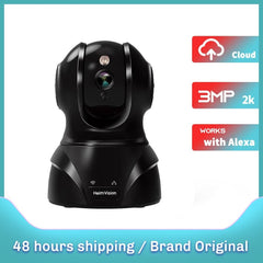 HMC02MQ 3MP 2K Security IP Camera WiFi PTZ Indoor Pet Wireless Camera Night Vision Motion Dection Works with Alexa