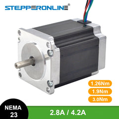 Nema 23 Stepper Motor 3Nm/1.9Nm/1.26Nm 4-lead 2.8A/4.2A 57 Motor Stepping Motor for 3D Printer CNC Engraving Milling Machine