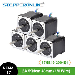 5PCS Nema 17 Stepper Motor 48mm 2A 17HS19-2004S1 Motor Nema17 59Ncm(84oz.in) 4-lead Step Motor for CNC 3D Printer XYZ