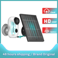 IP Camera Wifi Wireless Solar Panel 1080P Night Vision Battery Rechargeable Waterproof Home Security Cam PIR Motion