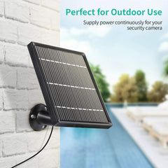 HMSA1MQ Solar Panel IP66 Waterproof Continuously Supply Power for HMDB2MQ Rechargeable Battery Security Solar Camera