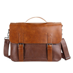 Laptop Briefcases Bags for Men Business Messenger Bag Vintage Crazy Horse Artificial Leather Handbag Casual Shoulder Bags