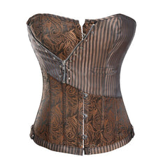 Women's Bustiers & Corsets Steampunk Overbust Corset Top Lace Up Boned Vintage Gothic Bustier Waist Training Corselet Tanks